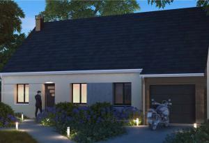 Plan maison 3 chambres HC 102 GI