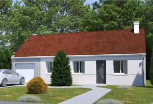 Plan maison 2 chambres HC 103 GI
