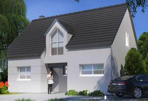 Plan maison 3 chambres HC 74