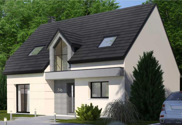 Plan maison 3 chambres Résidence Picarde 74B