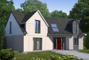 Plan maison 4 chambres HC 80