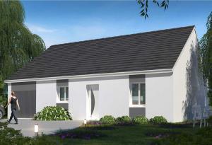 Plan maison 3 chambres HC 90