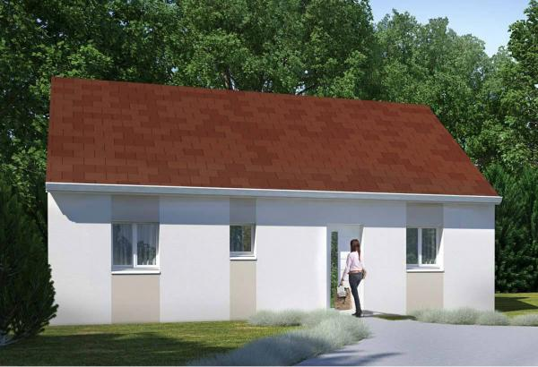 Plan maison 2 chambres Résidence Picarde 92