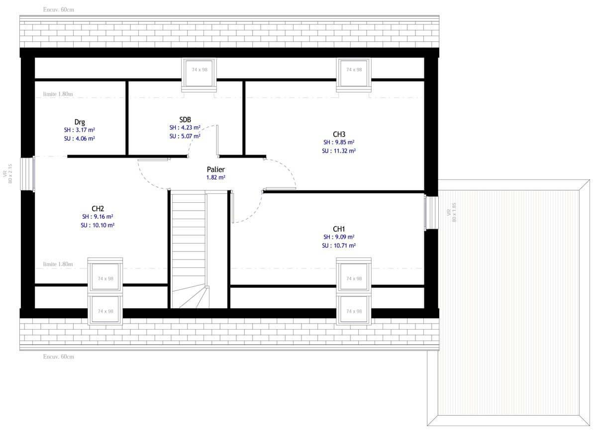 Plan Maison 3 Chambres Maisons Mca
