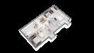 Plan maison bois à étage 4 chambres - étage perspective 3d
