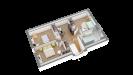 Plan maison bois à étage contemporaine - perspective 3d étage