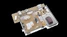 Plan maison bois à étage contemporaine - perspective 3d rdc