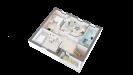 Plan maison ossature bois R+1 4 chambres - étage perspective 3D