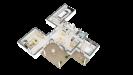 Plan maison ossature bois R+1 4 chambres - rdc perspective 3D
