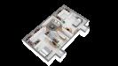 Plans maison ossature bois à étage contemporaine - étage vue 3d perspective