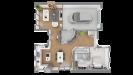 Plans maison ossature bois à étage contemporaine - rdc vue 3d dessus