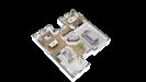 Plans maison ossature bois à étage contemporaine - rdc vue 3d perspective