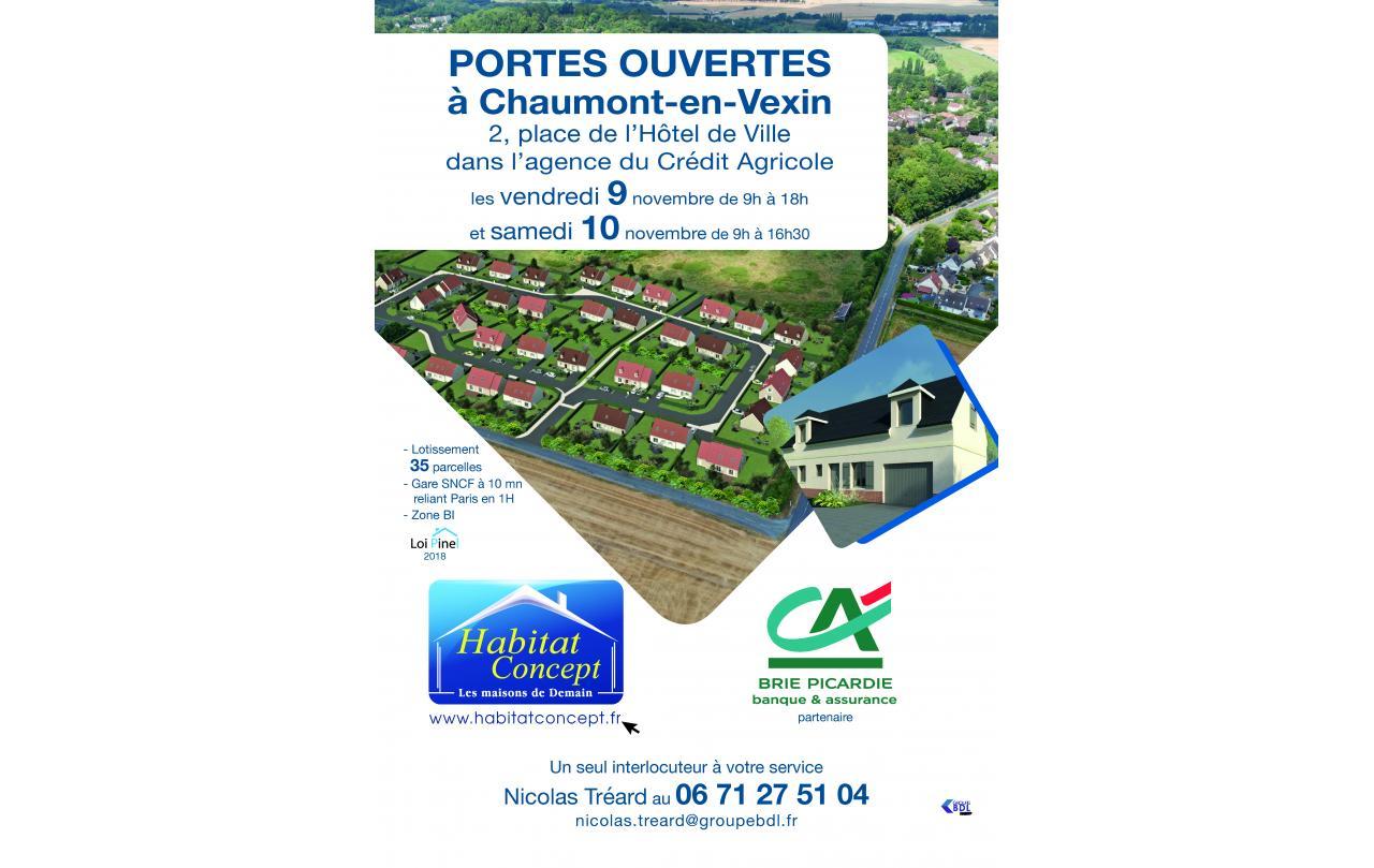 Portes Ouvertes à Chaumont-en-vexin les 09/11/2018 et 10/11/2018