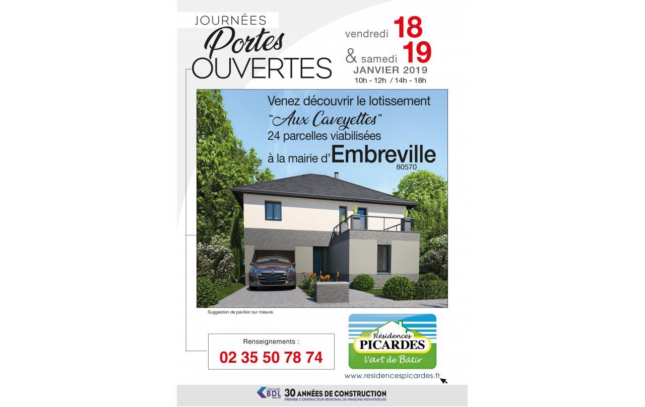 Portes Ouvertes à Embreville (80570) les 18/01/2019 et 19/01/2019