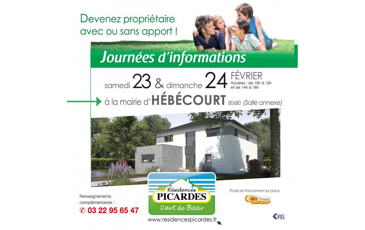 Portes Ouvertes à Hebecourt (80680) les 23/02/2019 et 24/02/2019