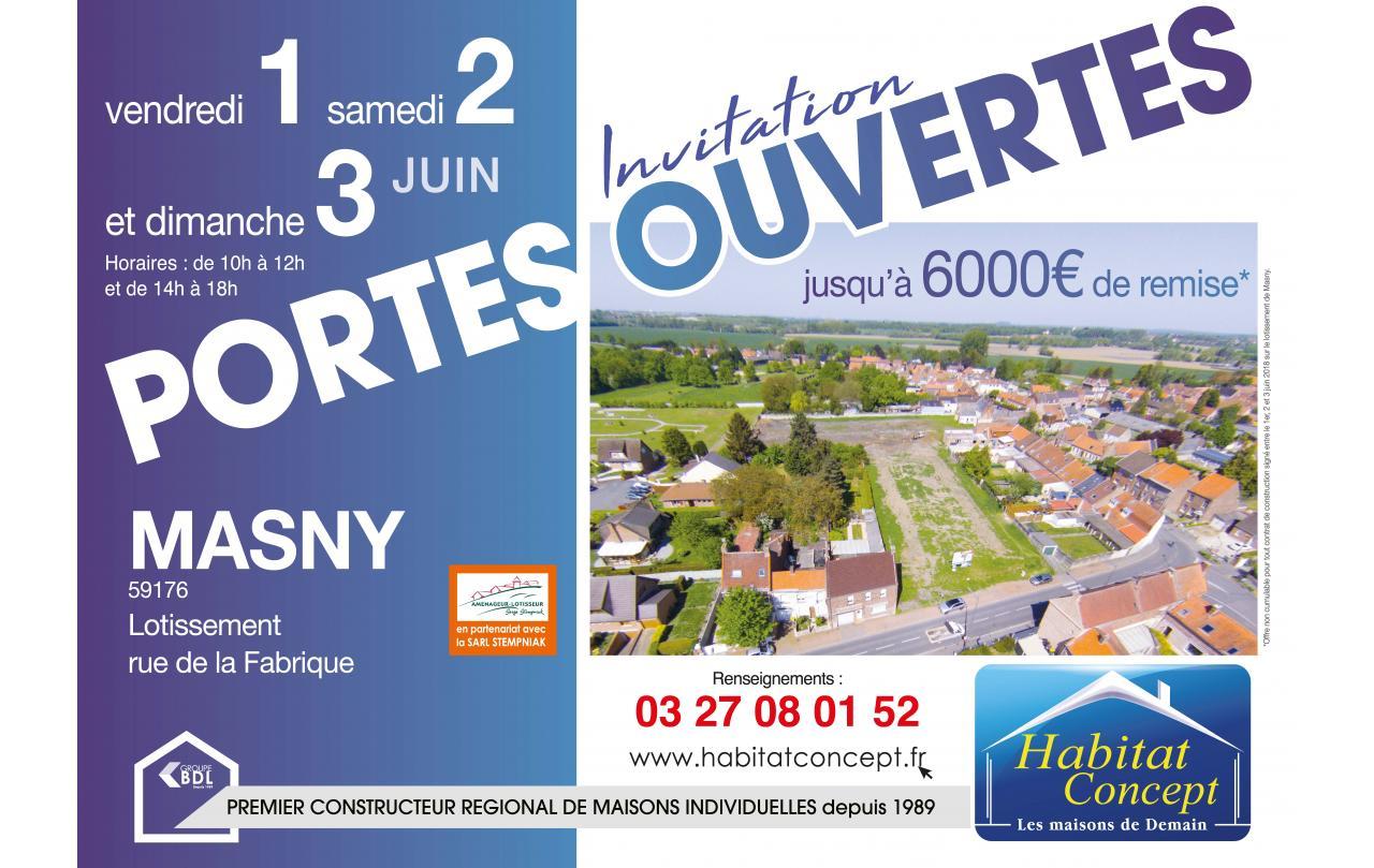 Portes Ouvertes à Masny (59176) du 01/06/2018 au 03/06/2018