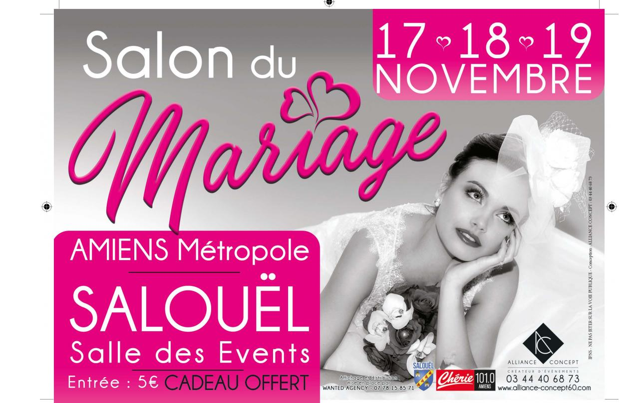 Salon Du Mariage à Salouel (80480) du 17/11/2017 au 19/11/2017