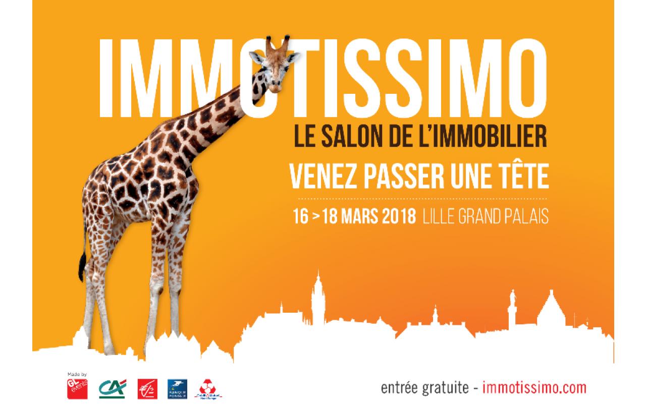 Salon Immotissimo à Lille (59000) du 16/03/2018 au 18/03/2018
