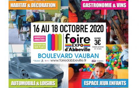 Foire Exposition à Abbeville (80100) du 16/10/2020 au 18/10/2020