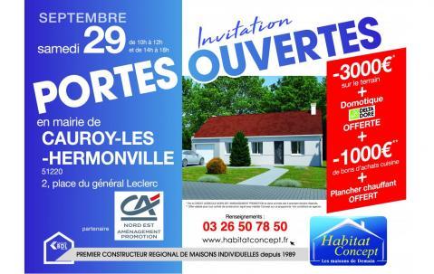 Portes Ouvertes à Cauroy-les-hermonville (51220) le 29/09/2018