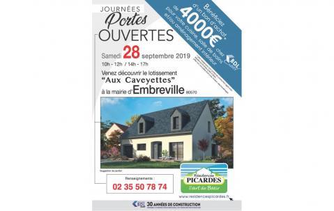 Portes Ouvertes à Embreville (80570) le 28/09/2019