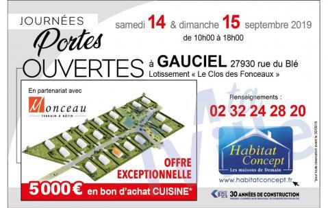 Portes Ouvertes à Gauciel (27930) les 14/09/2019 et 15/09/2019