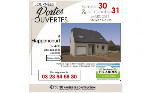 Portes Ouvertes à Happencourt (02480) les 30/03/2019 et 31/03/2019