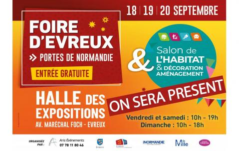 Salon De L'habitat à Evreux (27000) du 18/09/2020 au 20/09/2020