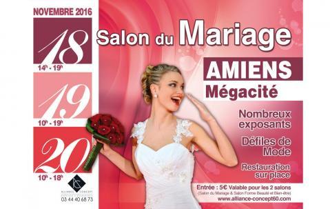 <b>Salon Du Mariage</b> à <b>Amiens</b><br>les 18/11/2016 et 19/11/2016