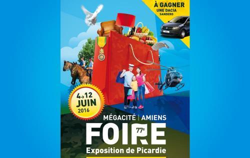 <b>Foire Exposition</b> à <b>Amiens</b><br>du 04/06/2016 au 12/06/2016