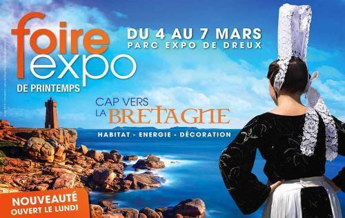 <b>Foire Exposition</b> à <b>Dreux</b><br>du 04/03/2016 au 07/03/2016