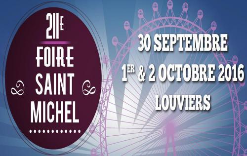 <b>Foire Exposition</b> à <b>Louviers</b><br>du 30/09/2016 au 02/10/2016