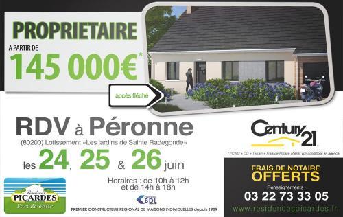 <b>Portes Ouvertes</b> à <b>Peronne</b><br>du 24/06/2016 au 26/06/2016