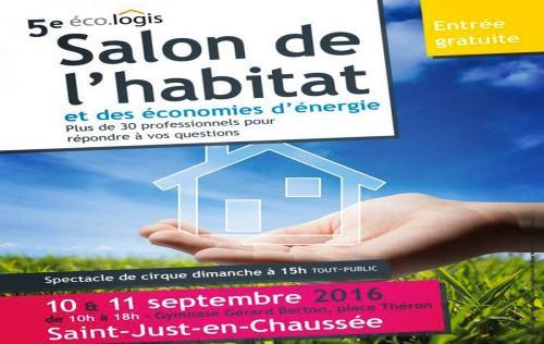 <b>Salon De L'eco-habitat</b> à <b>Saint-just-en-chaussee</b><br>les 10/09/2016 et 11/09/2016