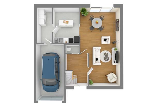 Plan maison 3 chambres DH 38