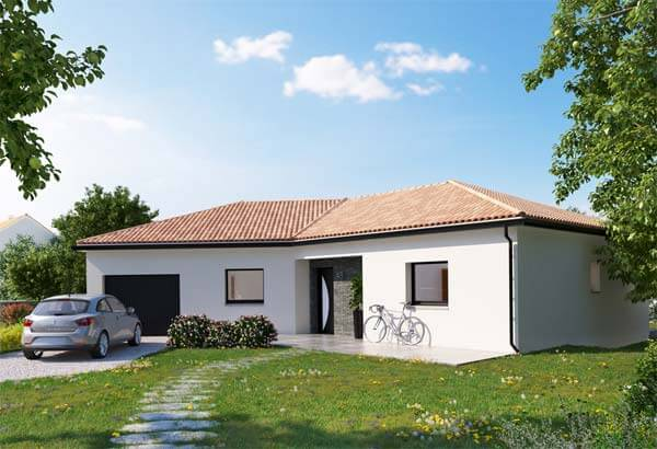 Plan maison 3 chambres DH 48