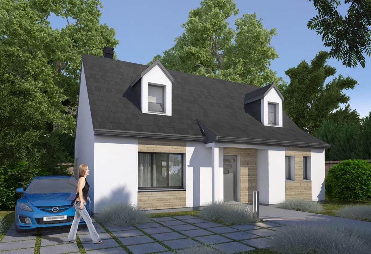 Rendu 1 de la maison individuelle Habitat Concept 04