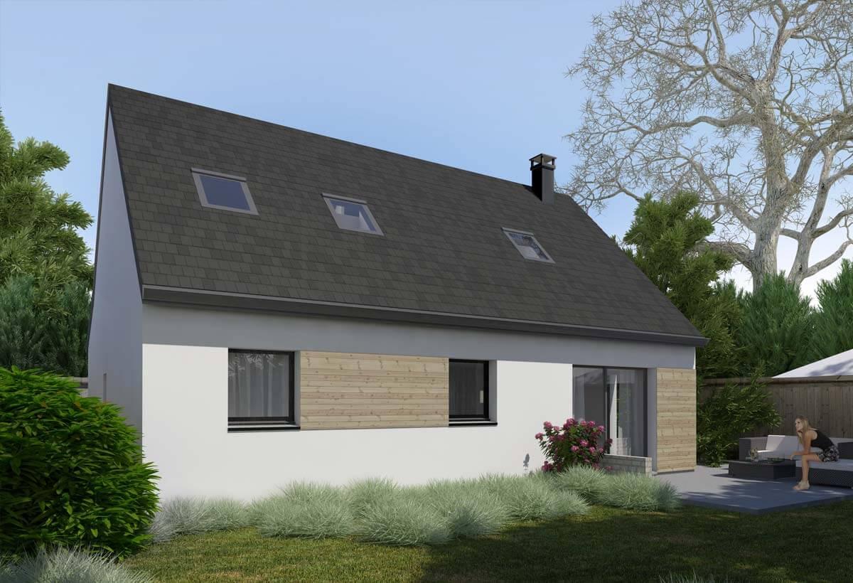 Rendu 2 de la maison individuelle Habitat Concept 04