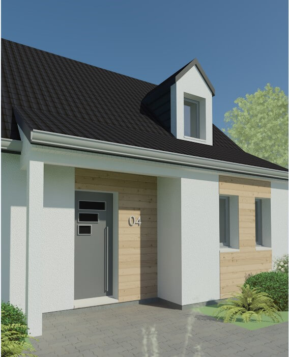 Rendu 5 de la maison individuelle Habitat Concept 04