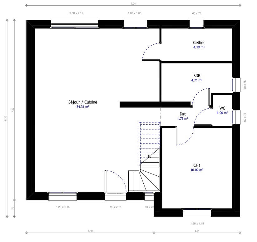 Super Plan Maison. Interesting Plans For A New House With Plan Maison  ZF93