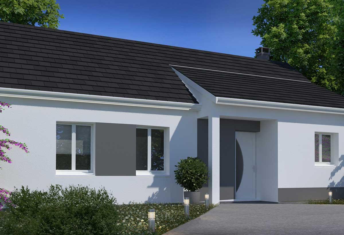 Plan maison individuelle 3 chambres 08 habitat concept - Maison cubique plain pied ...