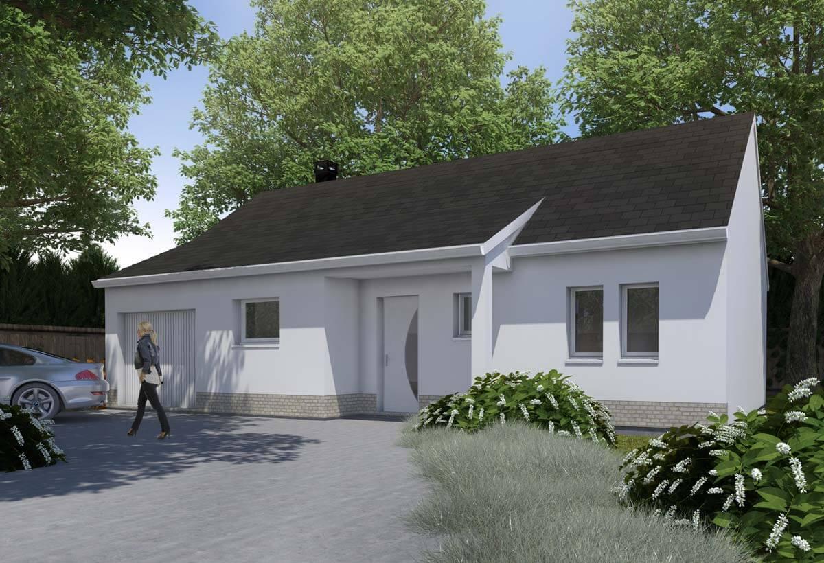 Plan maison individuelle 3 chambres 09 habitat concept - Maison cubique plain pied ...