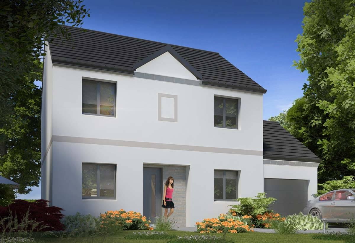Plan maison 5 chambres HC 100