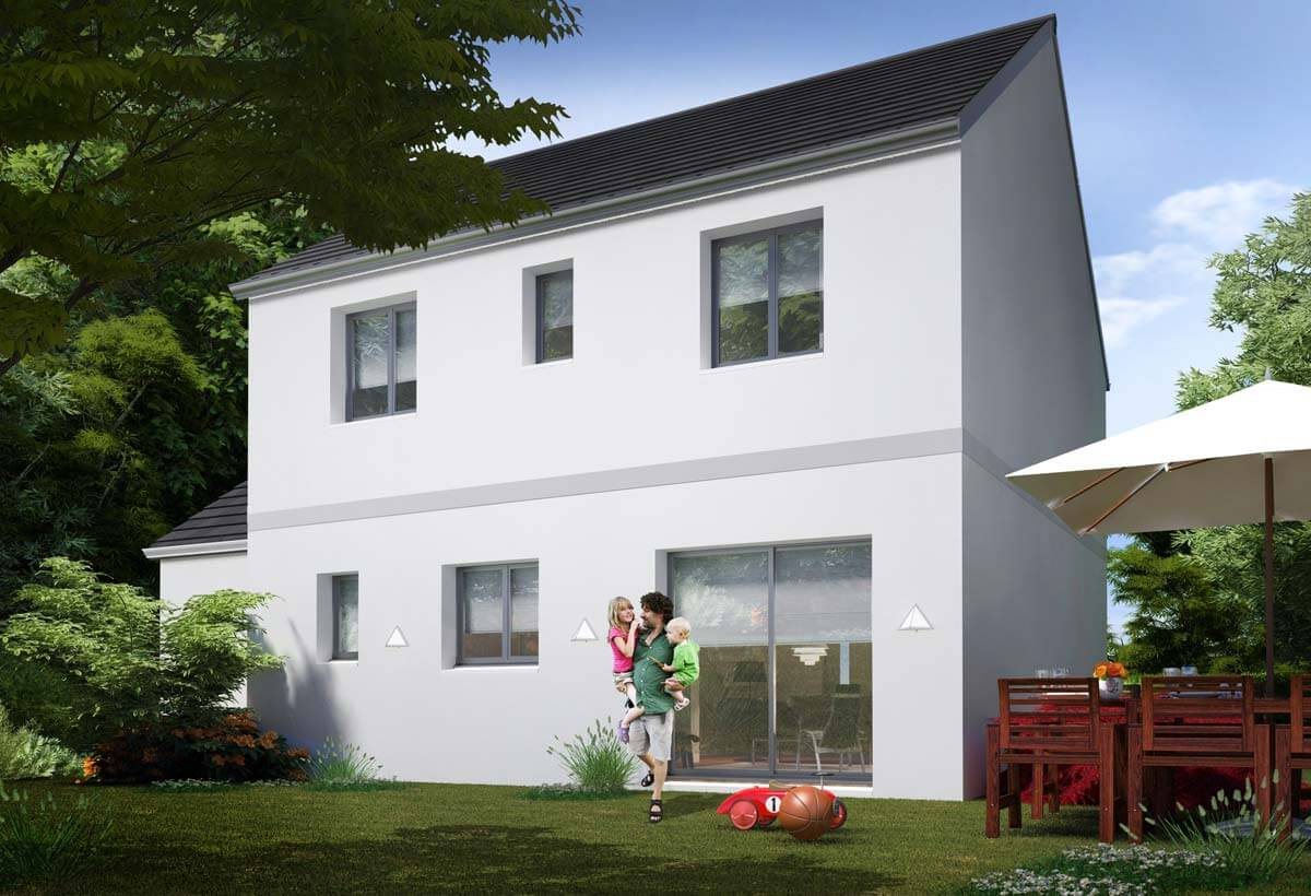 Plan maison 5 chambres Résidence Picarde 100