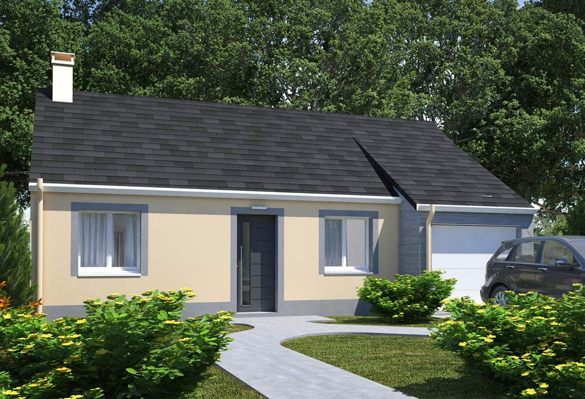 Plan maison individuelle 2 chambres 101 habitat concept for Plans maisons contemporaines