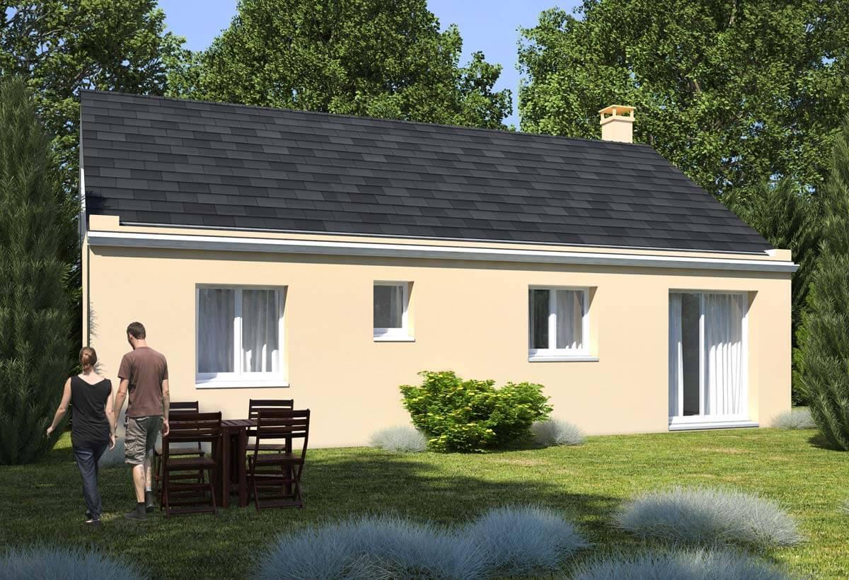 Plan maison 2 chambres Lesmaisons.com 101