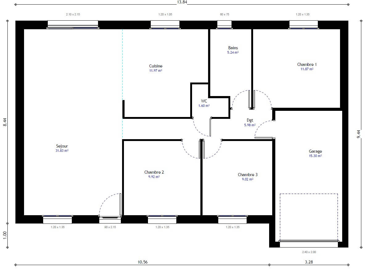 Best plan de la maison habitat concept gi with plan maison for Plain pied plan