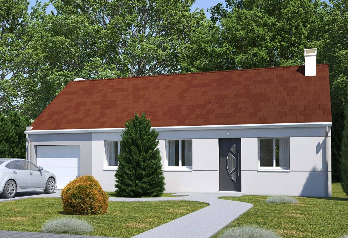 Rendu 1 de la maison individuelle Habitat Concept 103 Gi