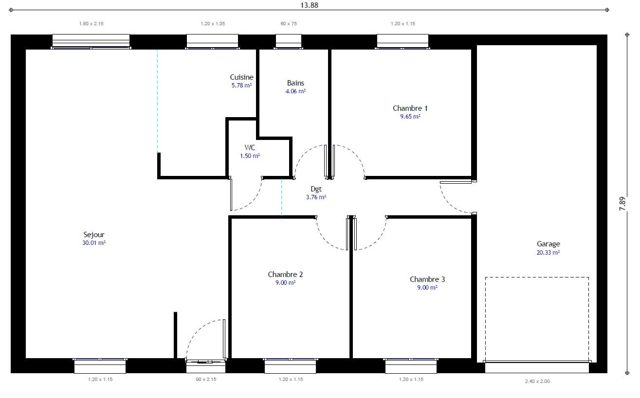 Plan maison visio for Creation plan maison