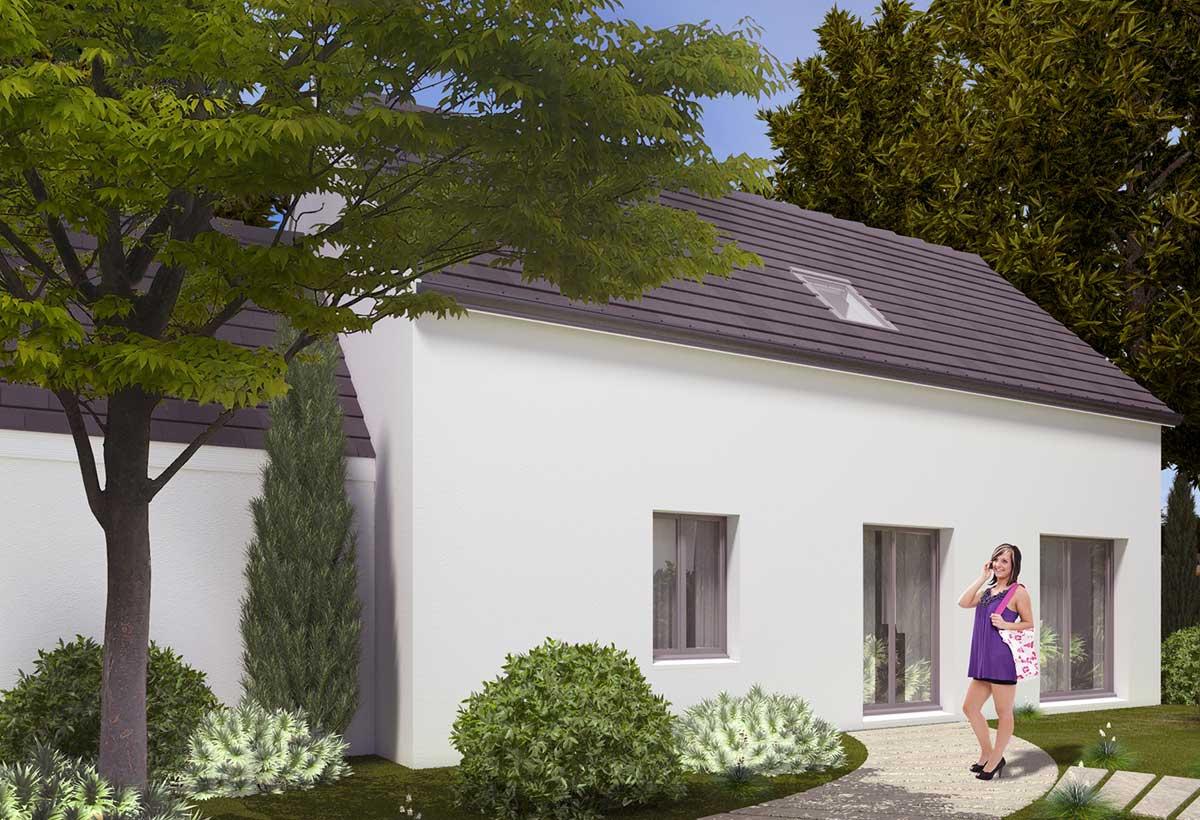 Plan maison 3 chambres Résidence Picarde 106
